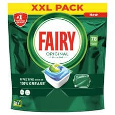 Fairy All In One Dishwasher Tablets - Pack 78 Original